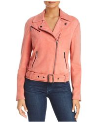 Kenneth Cole - Suede Moto Jacket - Lyst