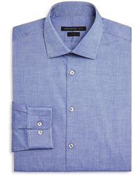 John Varvatos   Micro Dash Slim Fit Dress Shirt   Lyst