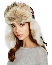 Canada Goose - Coyote Fur Aviator Hat - Lyst