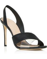 Pour La Victoire - Women's Elly Leather Illusion High Heel Slingback Sandals - Lyst
