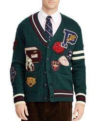 Polo Ralph Lauren - Patchwork Merino Wool Letterman Cardigan - Lyst