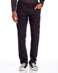 John Varvatos - John Varvatos Usa Bowery Straight Fit Jeans In Black - Lyst