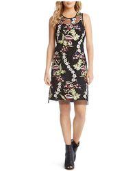 Karen Kane - Sleeveless Embroidered-overlay Dress - Lyst