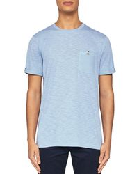 67f854cd281db Lyst - Ted Baker Delrey Woven Collar Polo in Blue for Men