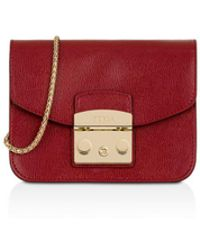 Furla - Metropolis Mini Leather Crossbody - Lyst