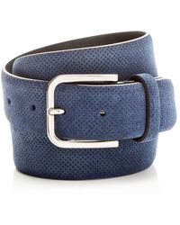 Canali - Embossed Suede Belt - Lyst