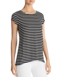 Kim & Cami - Striped Contrast-back Top - Lyst