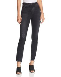 AG Jeans - Sophia High Rise Ankle Stovepipe Jeans In 4 Years Fazed - Lyst