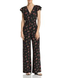 Re:named - Floral-print Open-back Jumpsuit - Lyst