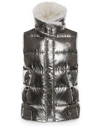 Moncler - Kerria Metallic Shearling-lined Down Vest - Lyst