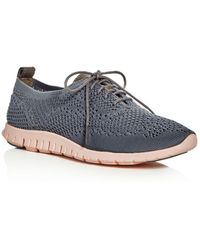 Cole Haan - Zerogrand Stitchlite Knit Lace Up Oxford Sneakers - Lyst