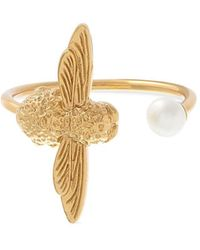 Olivia Burton - Cultured Freshwater Pearl Bee Cocktail Ring - Lyst