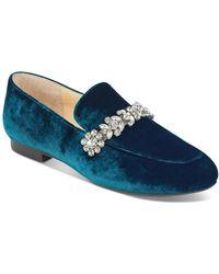 Ivanka Trump - Wareen Embellished Velvet Loafers - Lyst