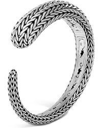 John Hardy - Sterling Silver Classic Chain Small Kick Cuff - Lyst