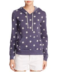 Alternative Apparel - Athletics Star Print Hoodie - Lyst