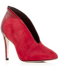 Joan Oloff - Women's Dorsey Suede & Patent Leather Pointed-toe Pumps - Lyst