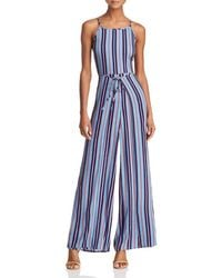 Band Of Gypsies - Gia Striped Jumpsuit - Lyst