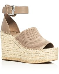 Marc Fisher - Adalyn Ankle Strap Espadrille Platform Wedge Sandals - Lyst