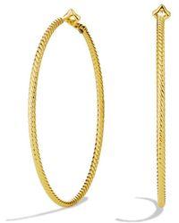David Yurman - Cable Classics Hoop Earrings In Gold - Lyst