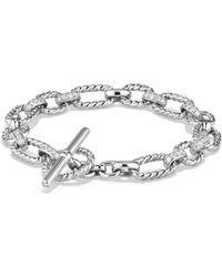 David Yurman - Cushion Chain Link Bracelet With Diamonds - Lyst