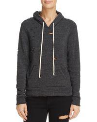 Alternative Apparel - Distressed Hooded Sweatshirt - Lyst