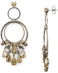 Sorrelli - Adorned Hammered Rings Drop Earring - Lyst