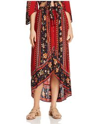 Band Of Gypsies   Pleated Floral-print Skirt   Lyst