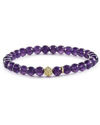 Lagos - Caviar Icon Amethyst Bracelet With 18k Gold Caviar Station - Lyst