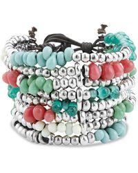 Uno De 50 - Beaded Cuff Bracelet - Lyst