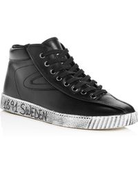 Tretorn - Men's Nylite Leather High Top Trainers - Lyst