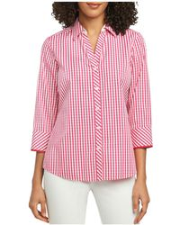 Foxcroft - Mary Gingham Button-down Top - Lyst