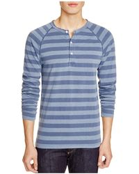 Todd Snyder - Striped Weathered Henley - Lyst