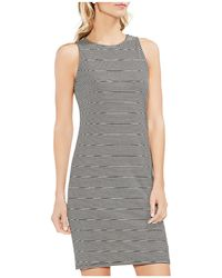 Vince Camuto - Sleeveless Striped Dress - Lyst