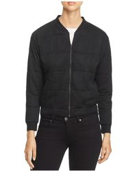 Majestic Filatures - Quilted Bomber Jacket - Lyst