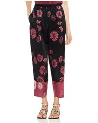 Vince Camuto - Chateau Sketch Floral Wide-leg Trousers - Lyst