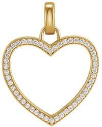 Michael Kors 14k Gold-plated Sterling Silver Pavé Oversized Heart Charm - Metallic