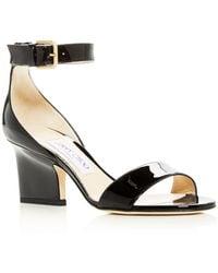 Jimmy Choo - Edina 65 Patent Leather Ankle-strap Sandals - Lyst