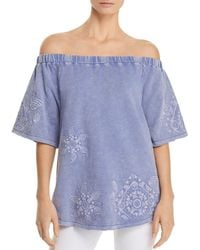 Billy T - Embroidered Off-the-shoulder Top - Lyst