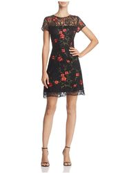 Lucy Paris | Amanda Floral Embroidered Lace Dress | Lyst