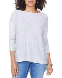 NYDJ - Drop Shoulder Split Back Sweater - Lyst