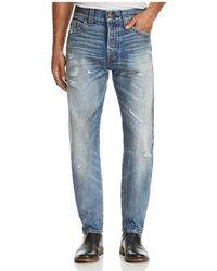 True Religion - Logan Straight Fit Jeans In Mended Street Brawl - Lyst