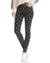 PAIGE - Hoxton Ultra Skinny Jeans In Black/cream Polka Dot (black/cream Polka Dot) Women's Jeans - Lyst