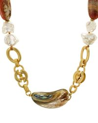 Chan Luu - Abalone Chain Necklace - Lyst