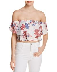 MISA - Suvi Off-the-shoulder Top - Lyst