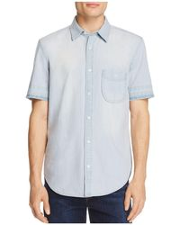 7 For All Mankind - Chambray Regular Fit Button-down Shirt - Lyst