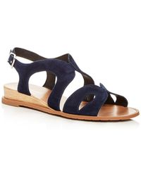 Kenneth Cole - Women's Jules Suede Slingback Demi Wedge Sandals - Lyst