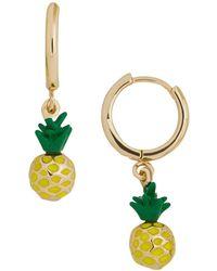 BaubleBar - Clover Pineapple Charm Huggie Drop Earrings - Lyst