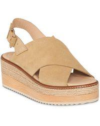 Whistles - Women's Rafi Suede Platform Sandals - Lyst