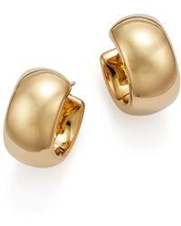 Bloomingdale's 14k Yellow Gold Wide Band Polished Hoop Earrings - Metallic