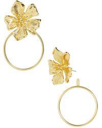 BaubleBar - Penthia Floral Loop Drop Earrings - Lyst
